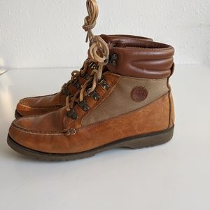 Vintage Leather Hiking Boots Handmade Watermocs